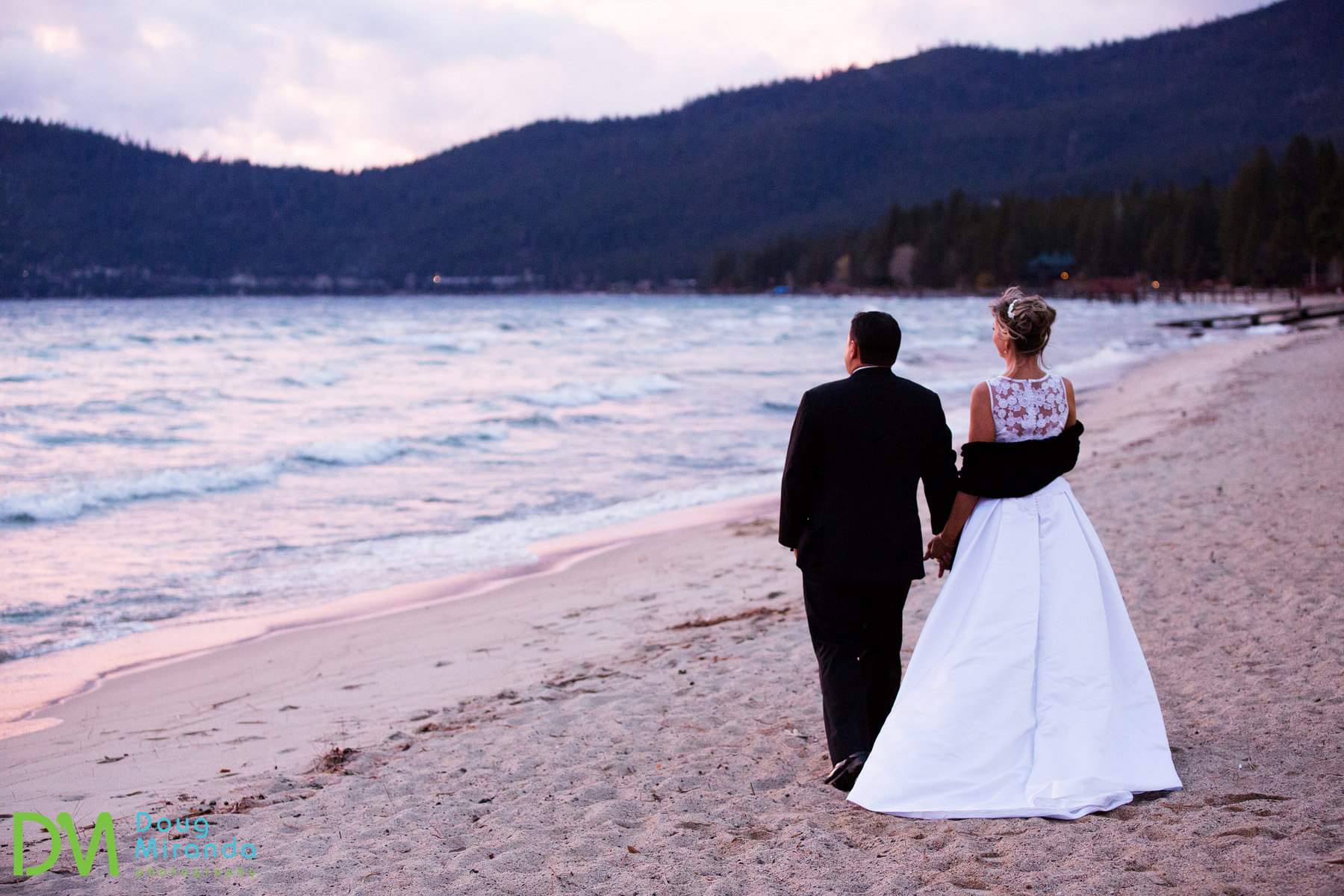 lake tahoe hyatt regency winter wedding