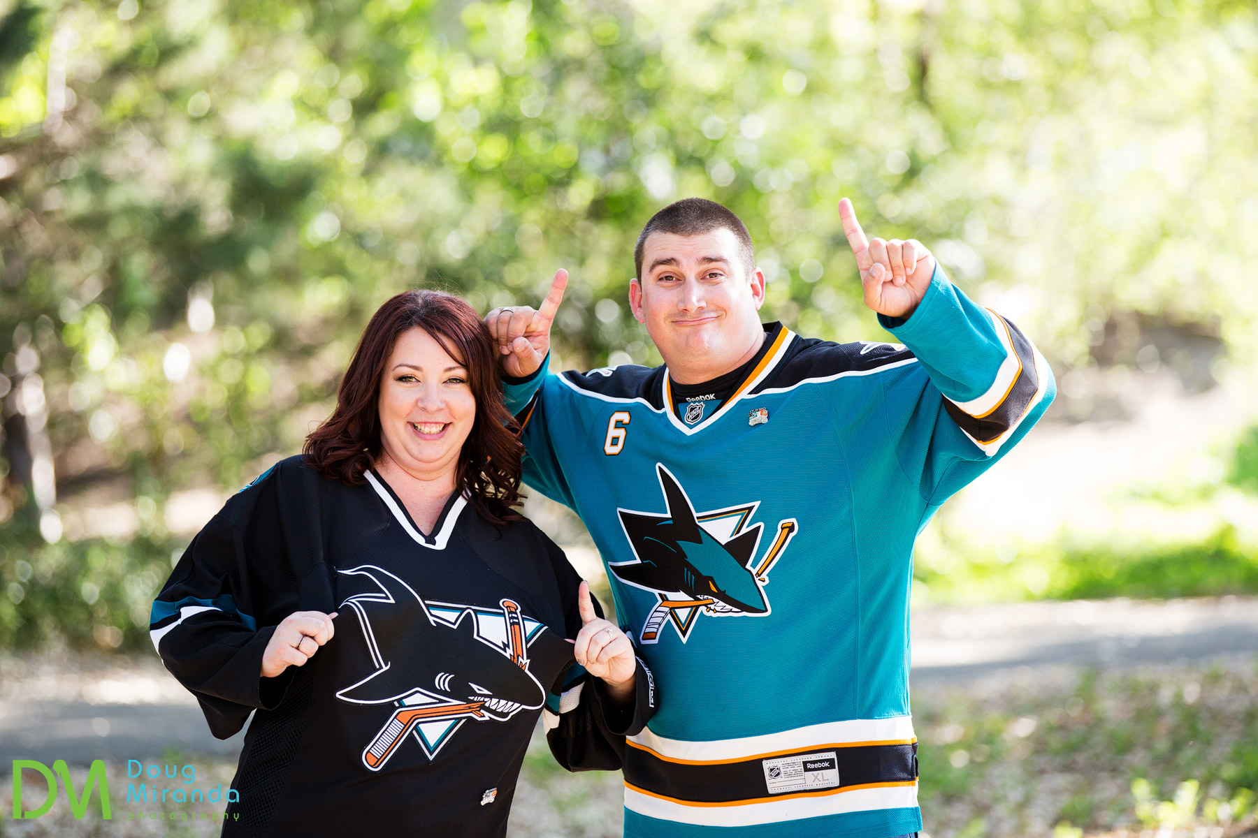 Kirsten and Greg are huge San Jose Shark fans!!