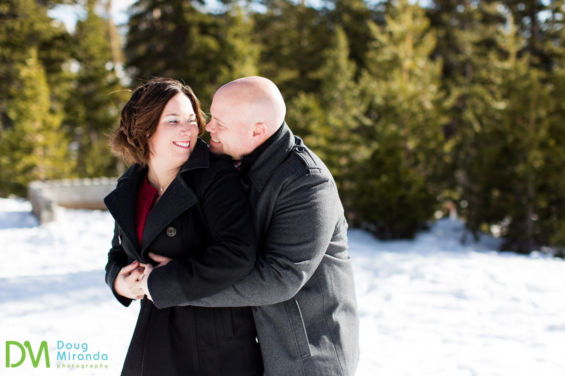 winter engagement mt rose