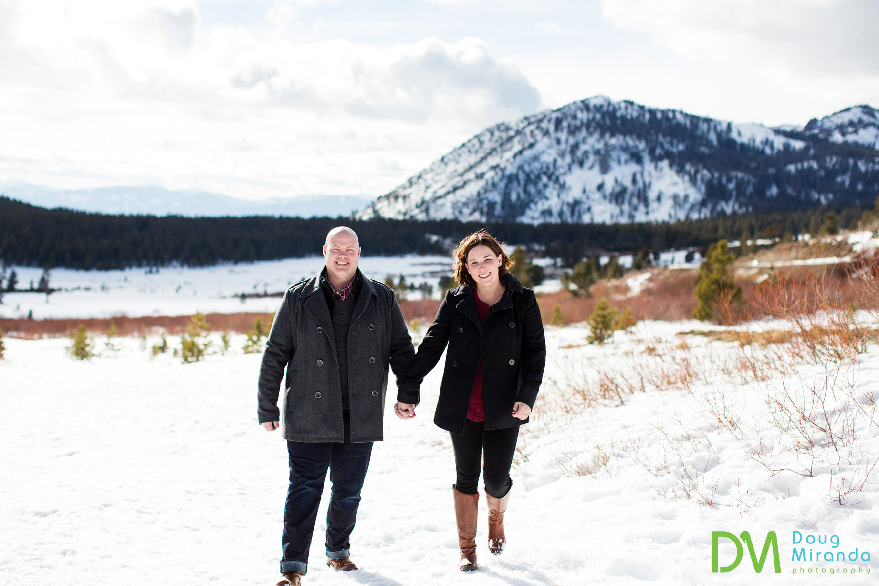mt rose engagement session