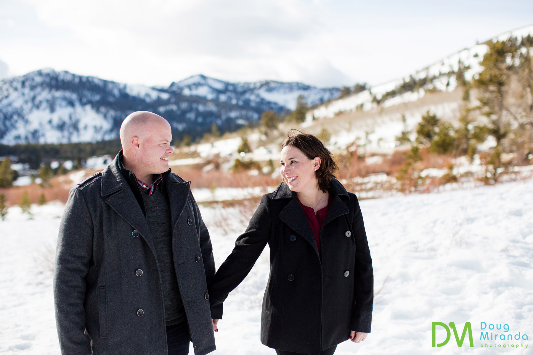 mt rose engagement session photography