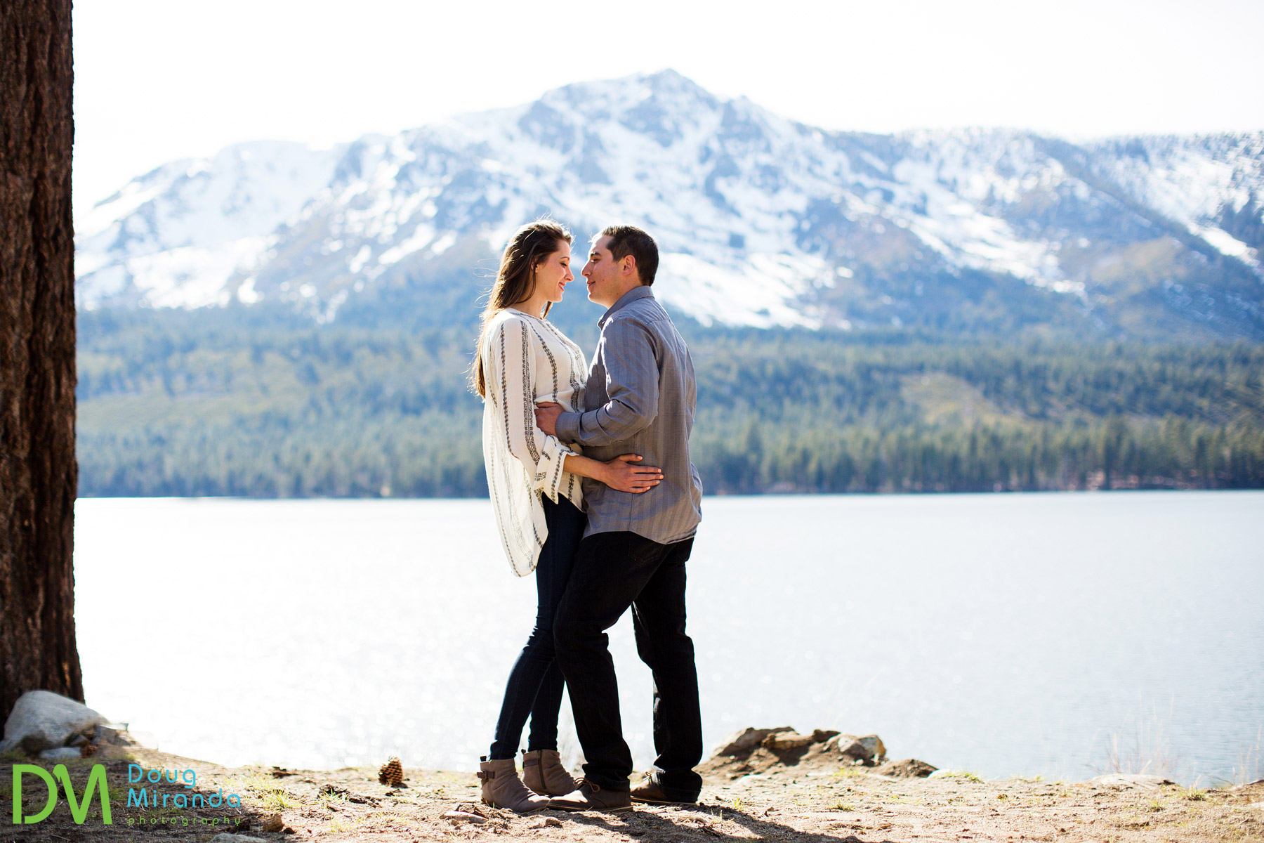 fallen leaf lake engagement photos