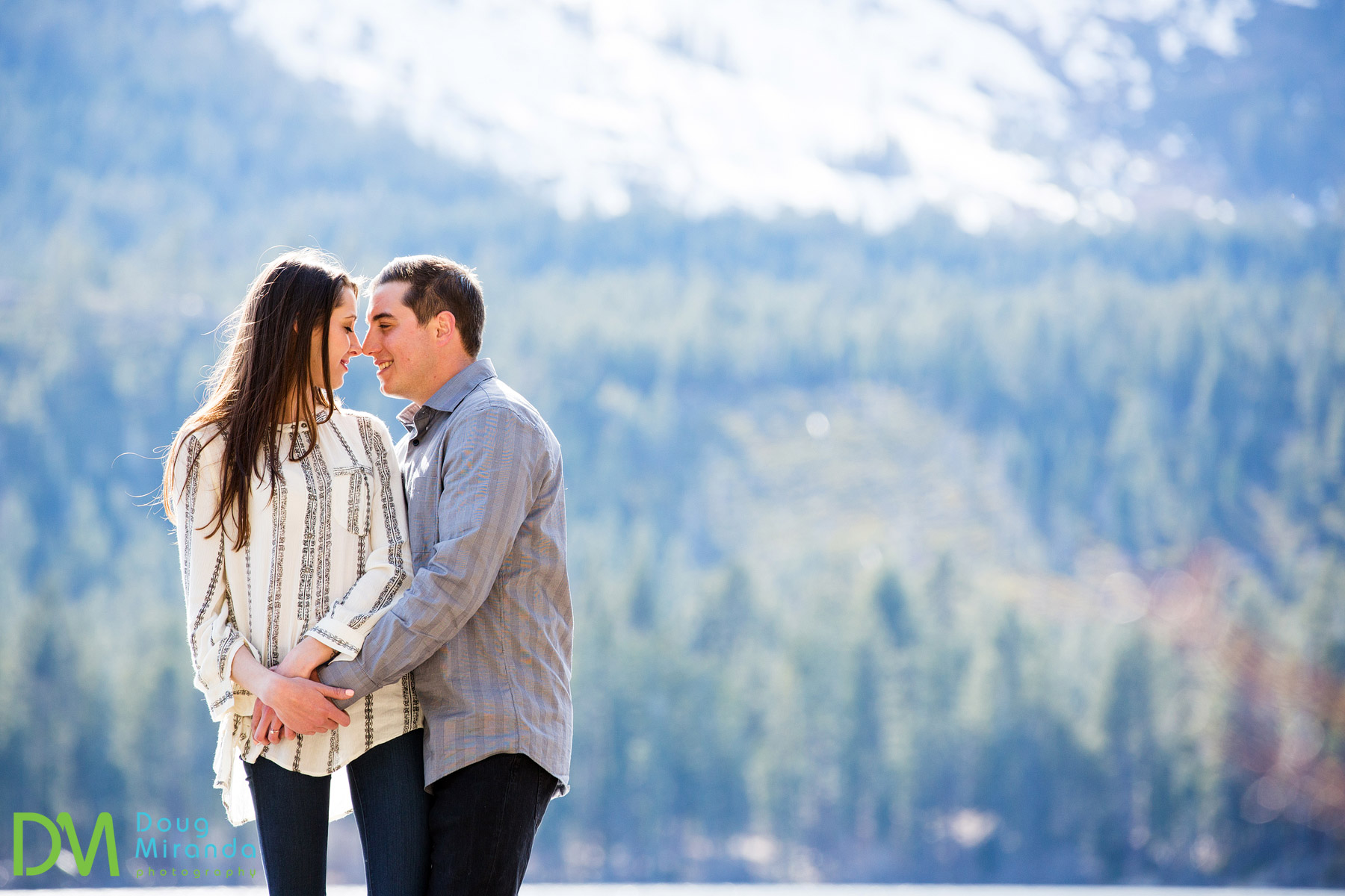 engagement session fallen leaf lake