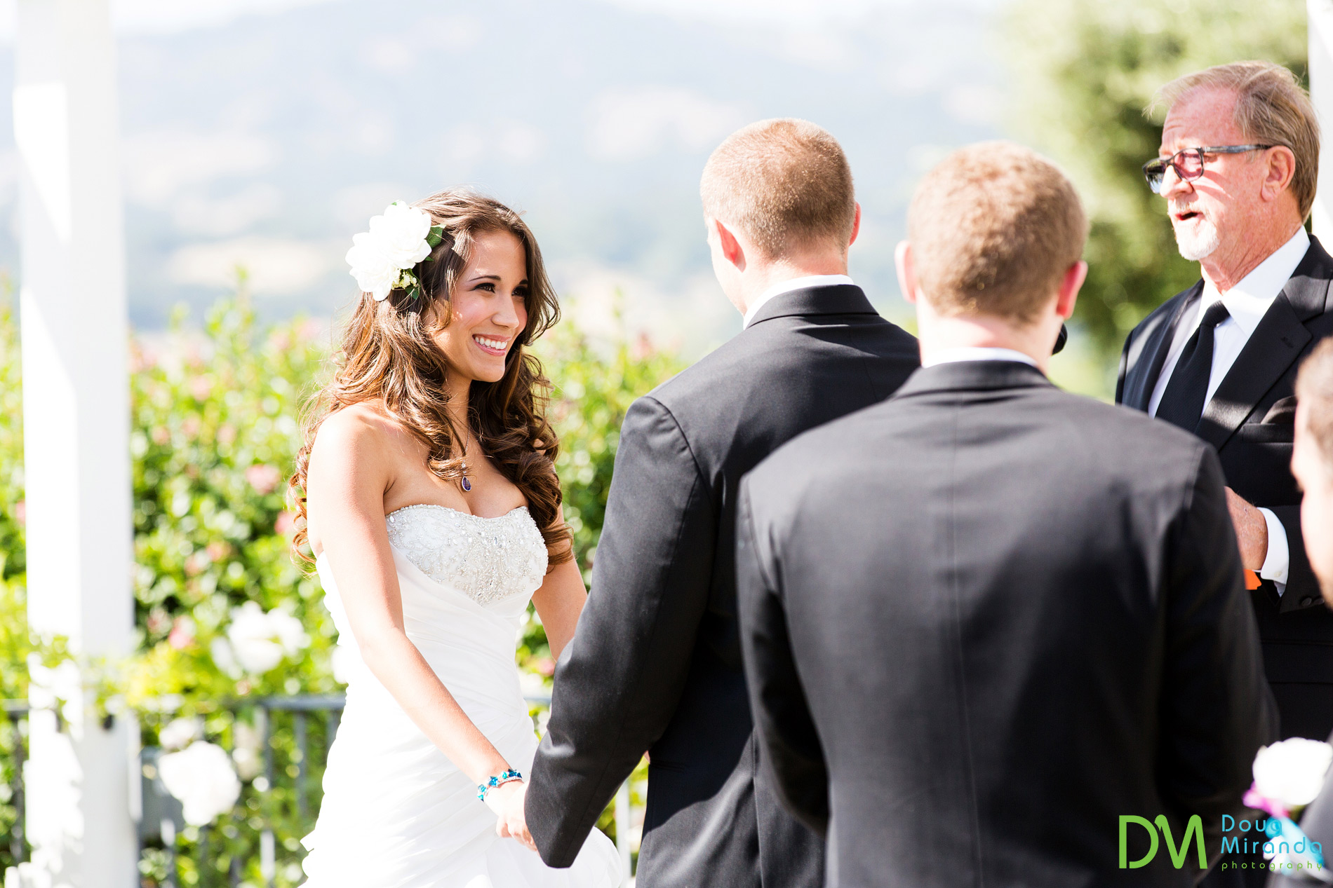 It's always fun to see bride's reactions during the wedding ceremony.