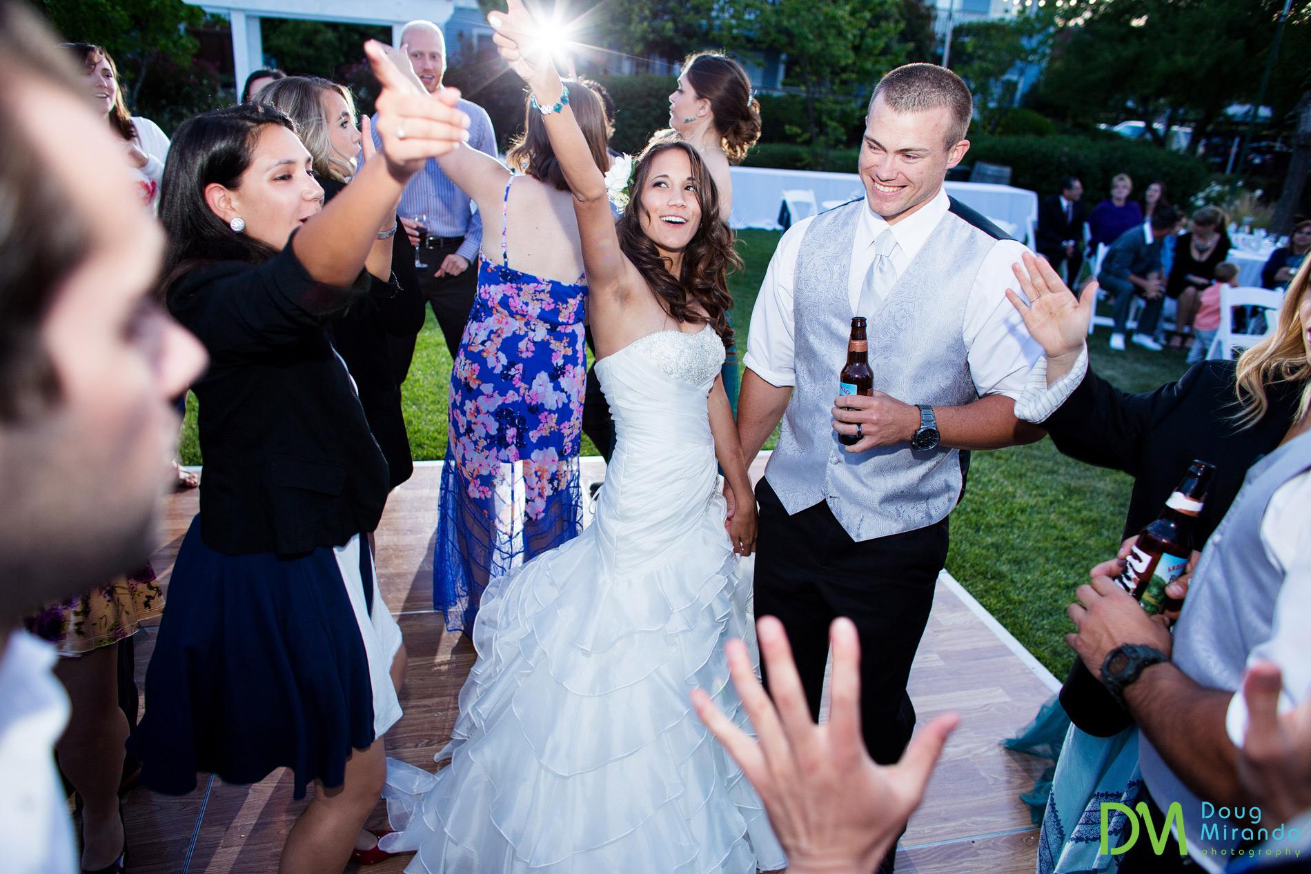 Dancing the night away at their Geyserville Inn wedding reception.