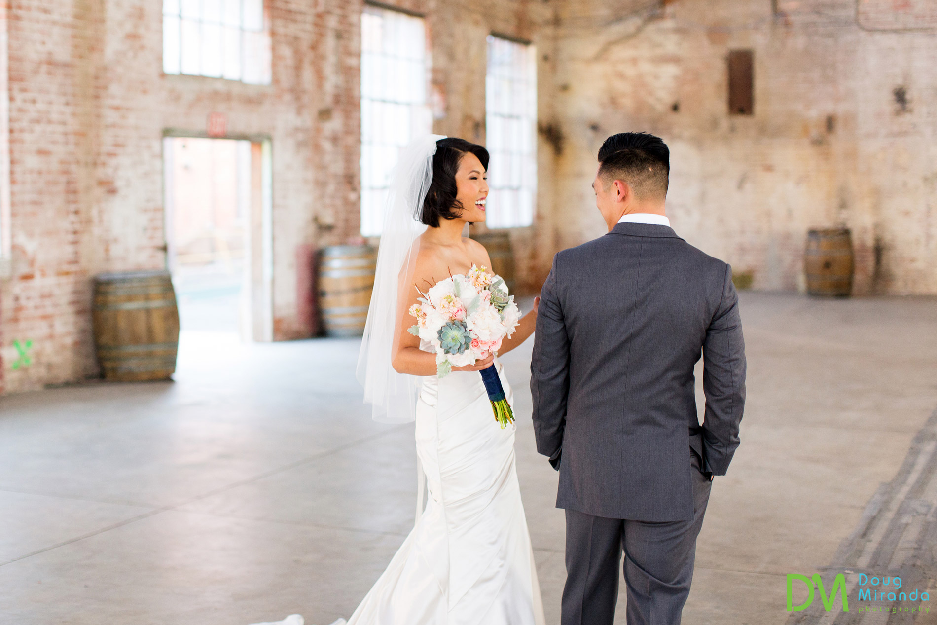 first look old sugar mill weddings