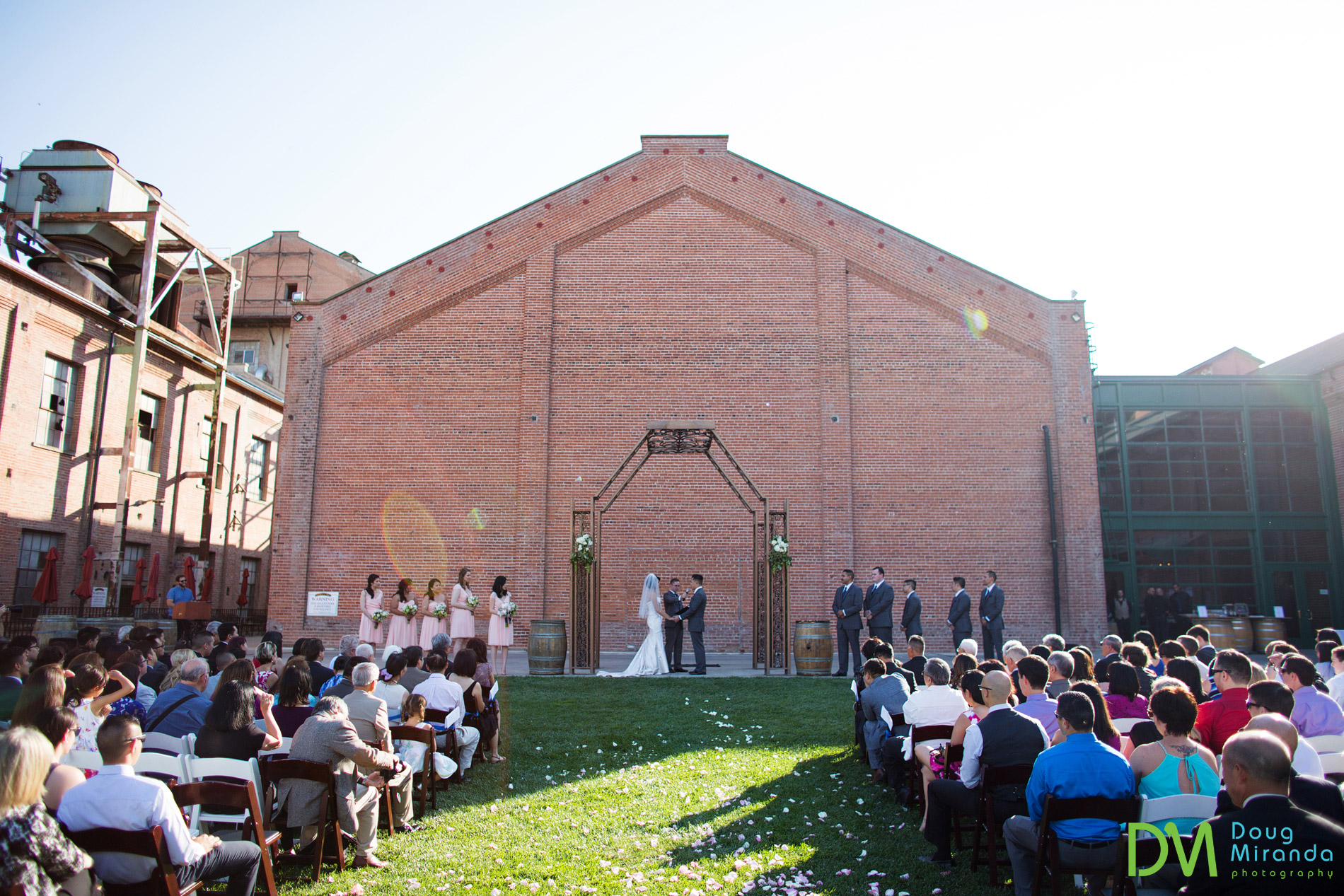 old sugar mill wedding ceremony