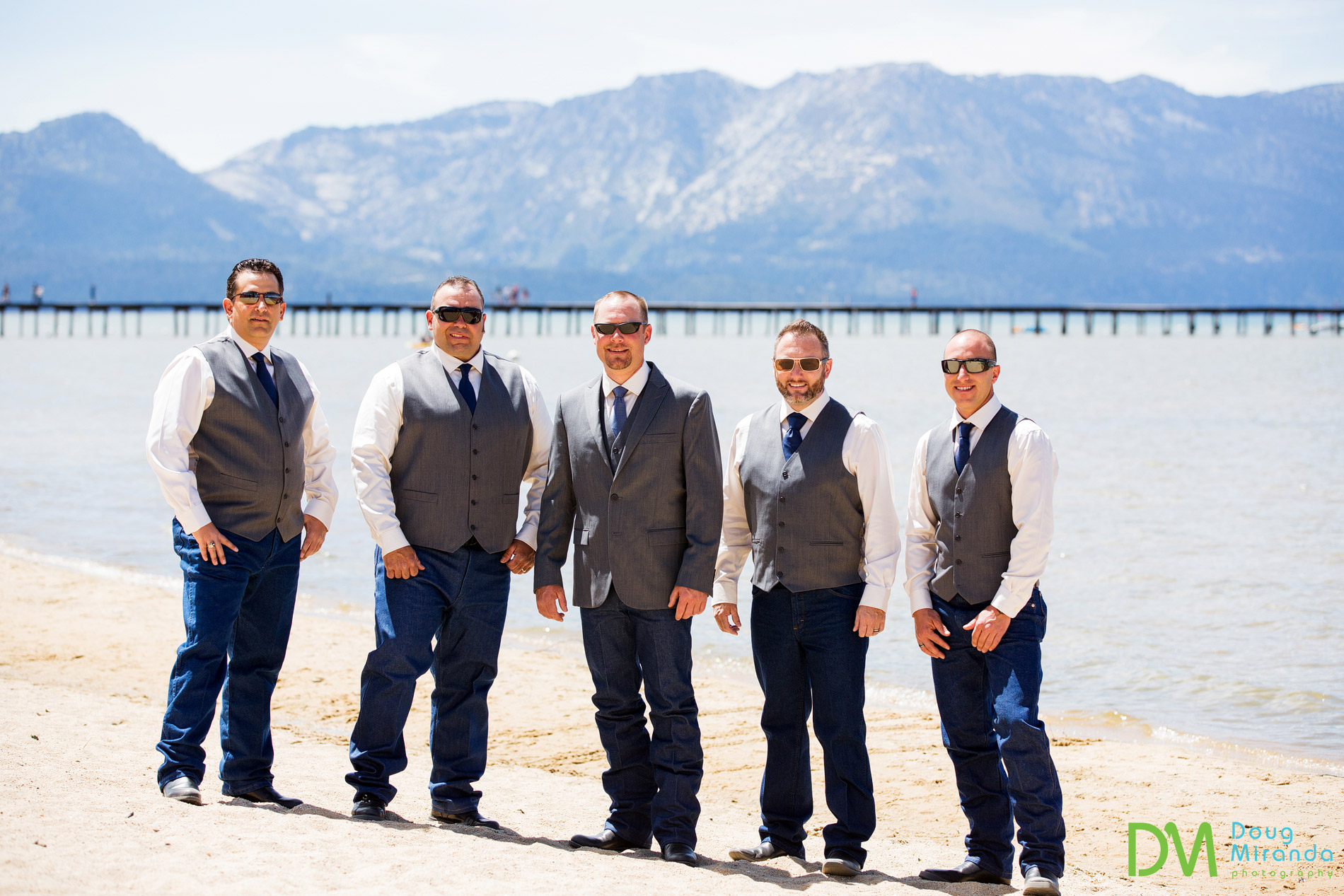 lake tahoe cowboy wedding groosmen
