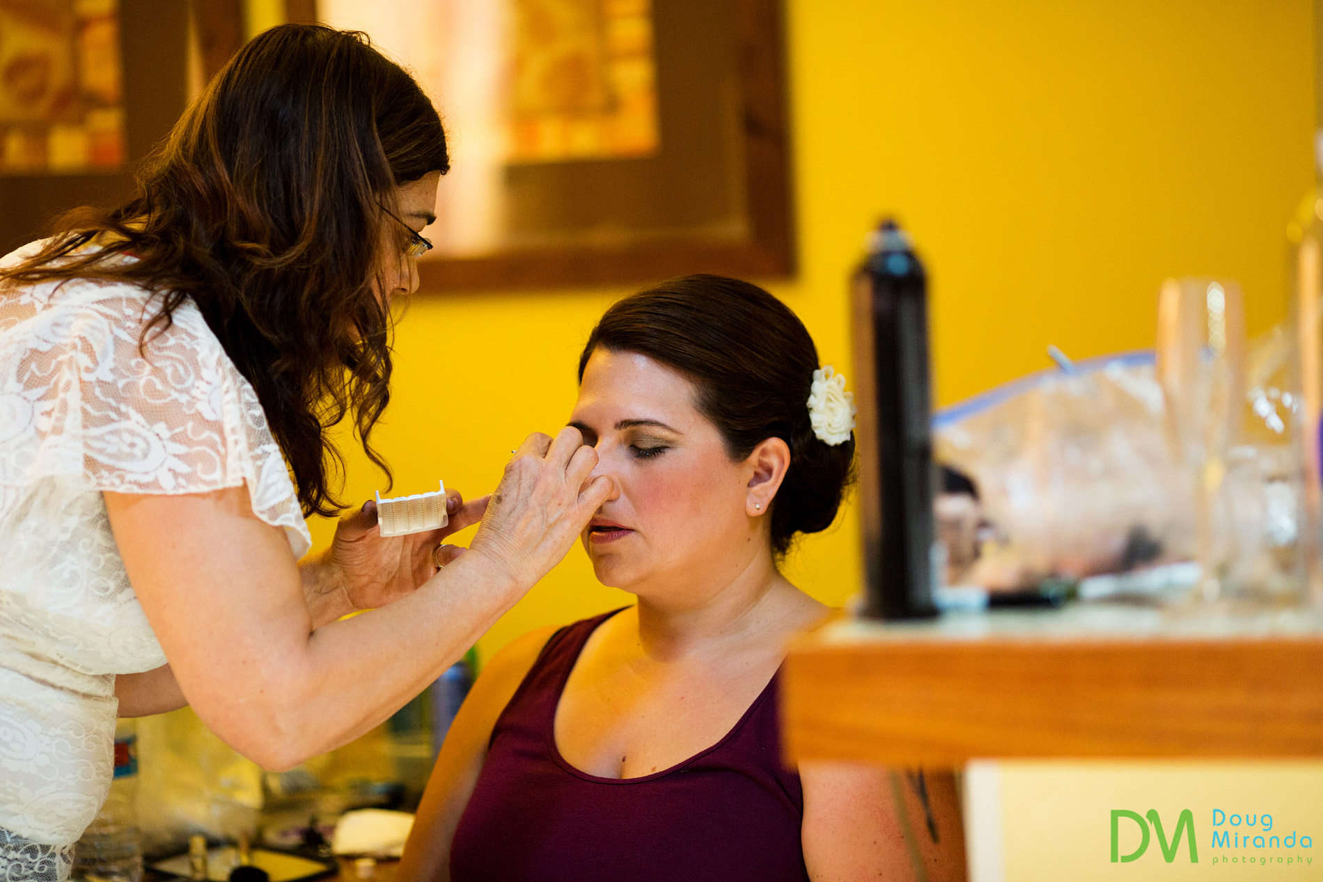 lake tahoe wedding hair and make up