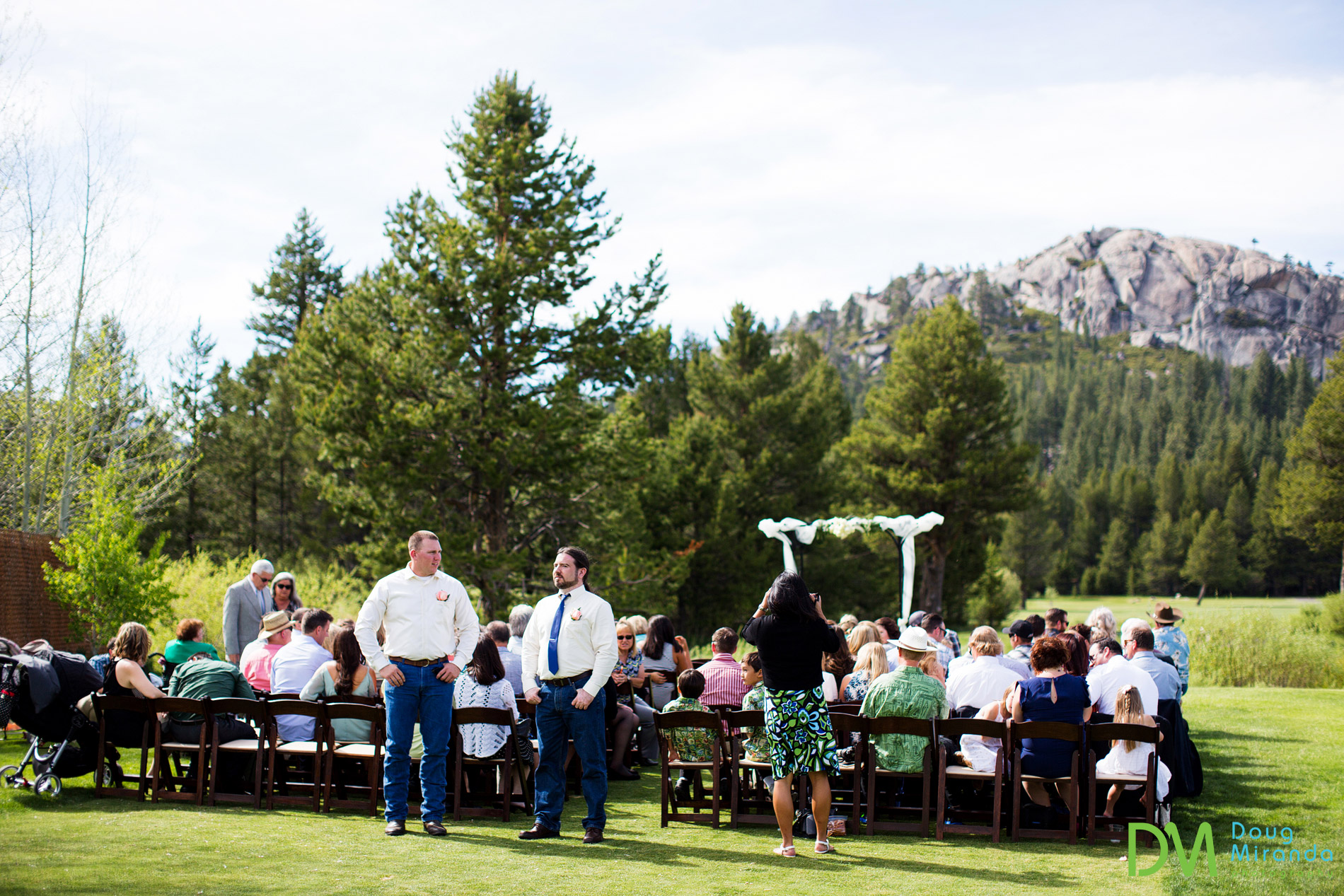 lake tahoe golf course wedding ceremony