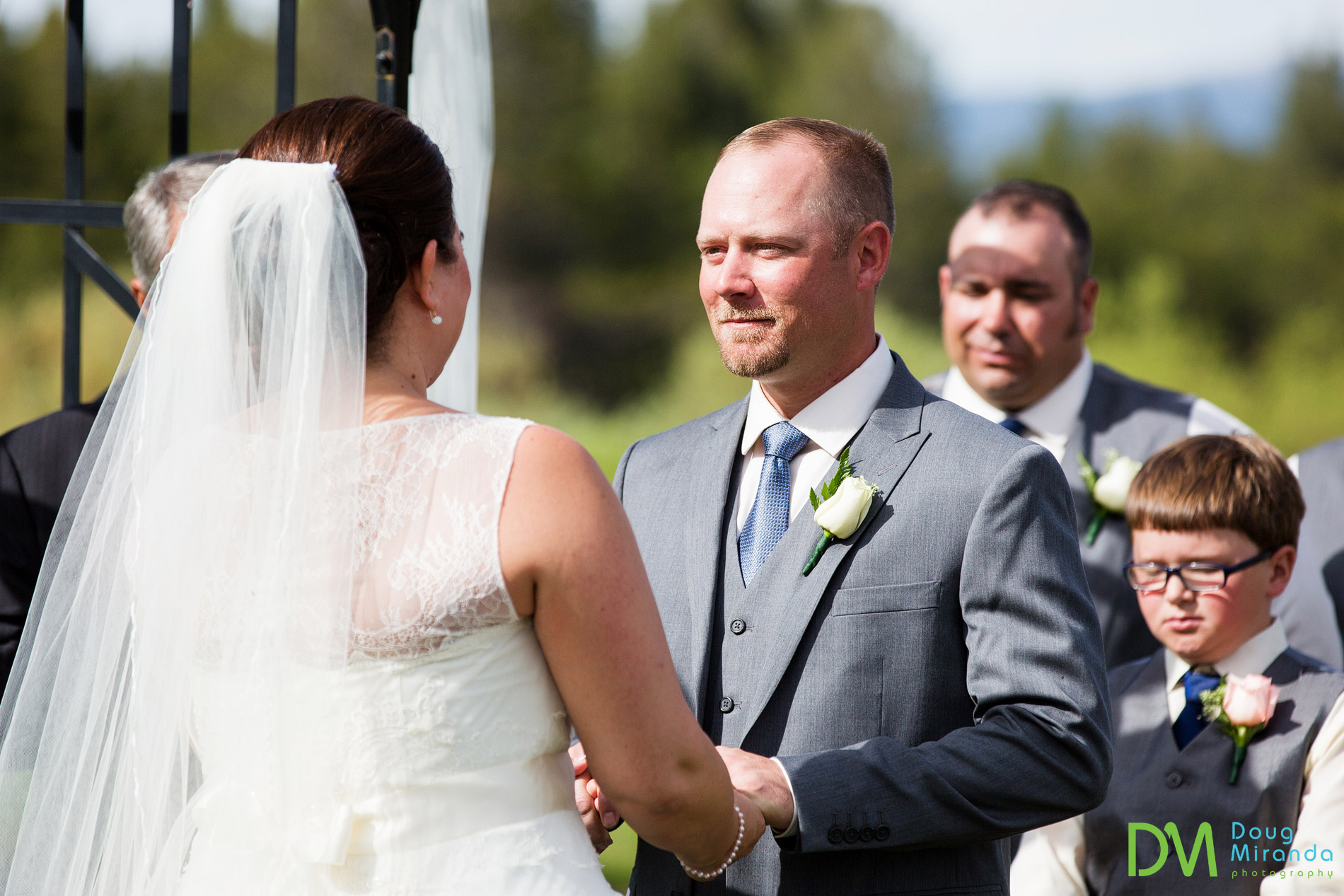 wedding ceremony lake tahoe golf course