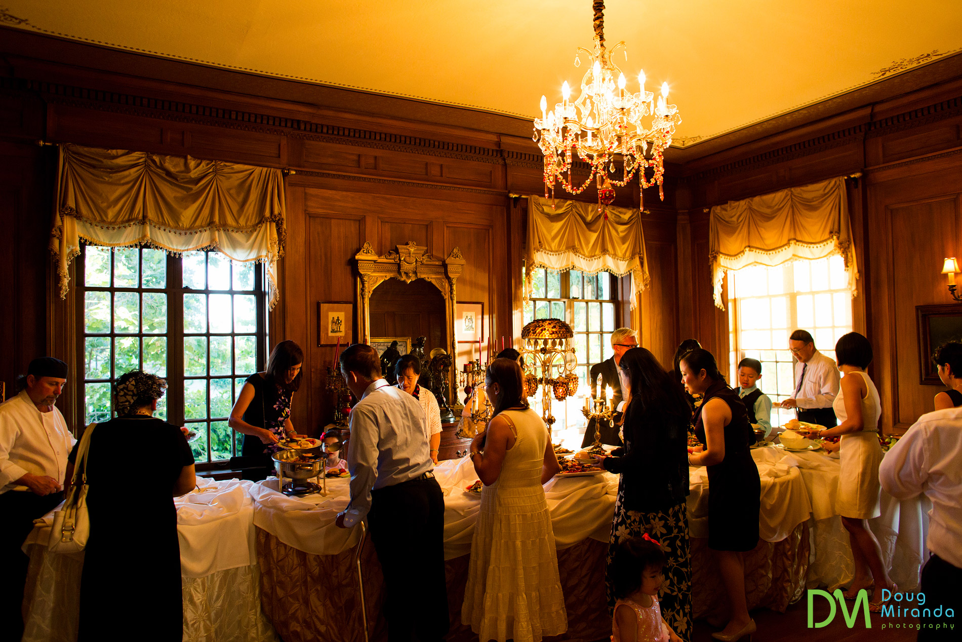 grand island mansion wedding reception