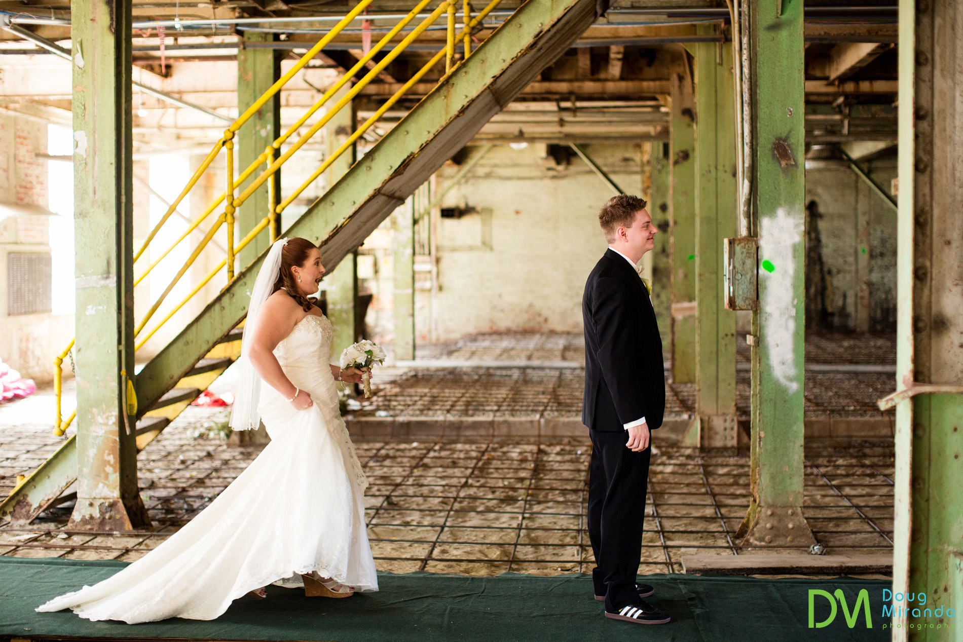 old sugar mill wedding first look