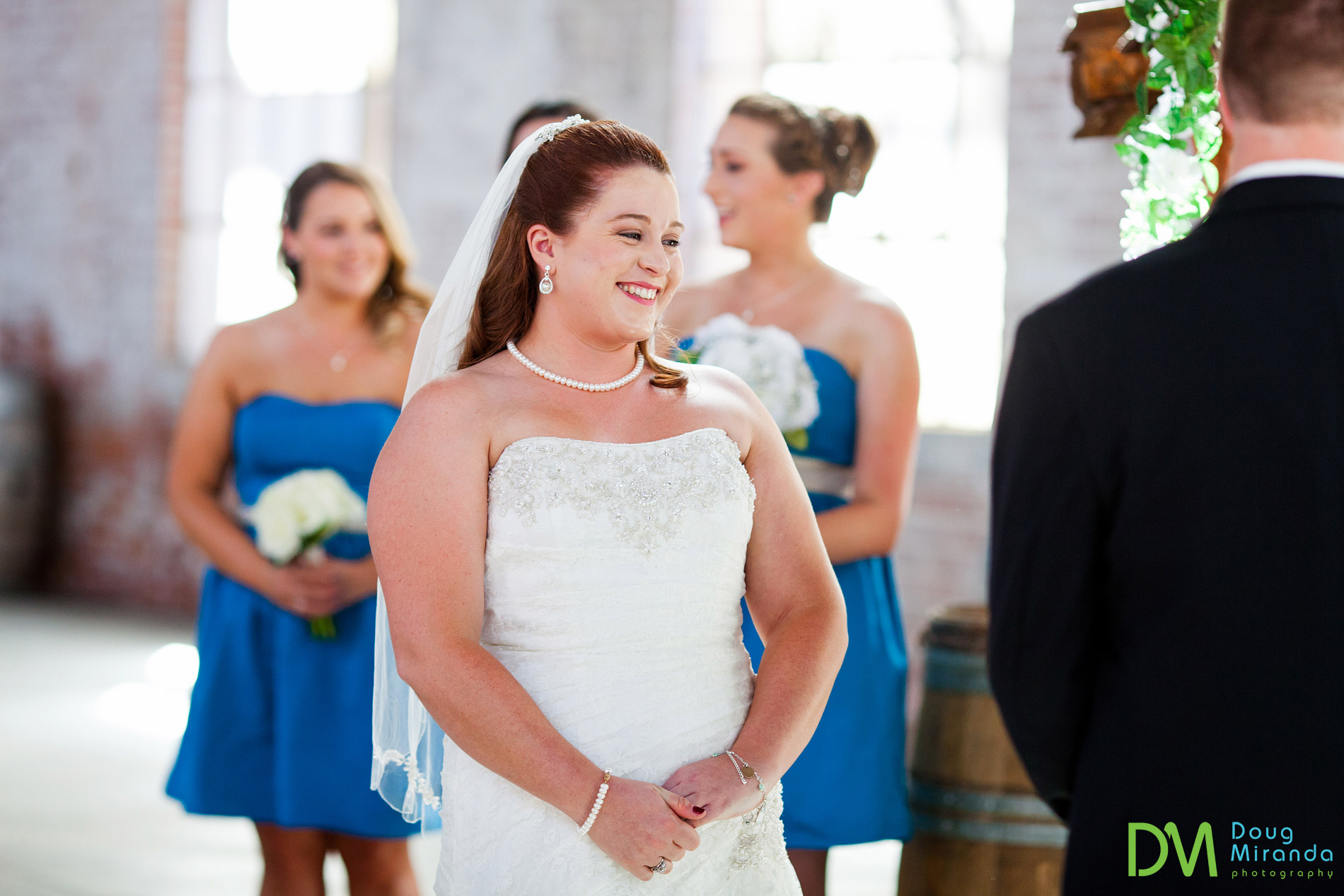 old sugar mill wedding ceremony boiler room