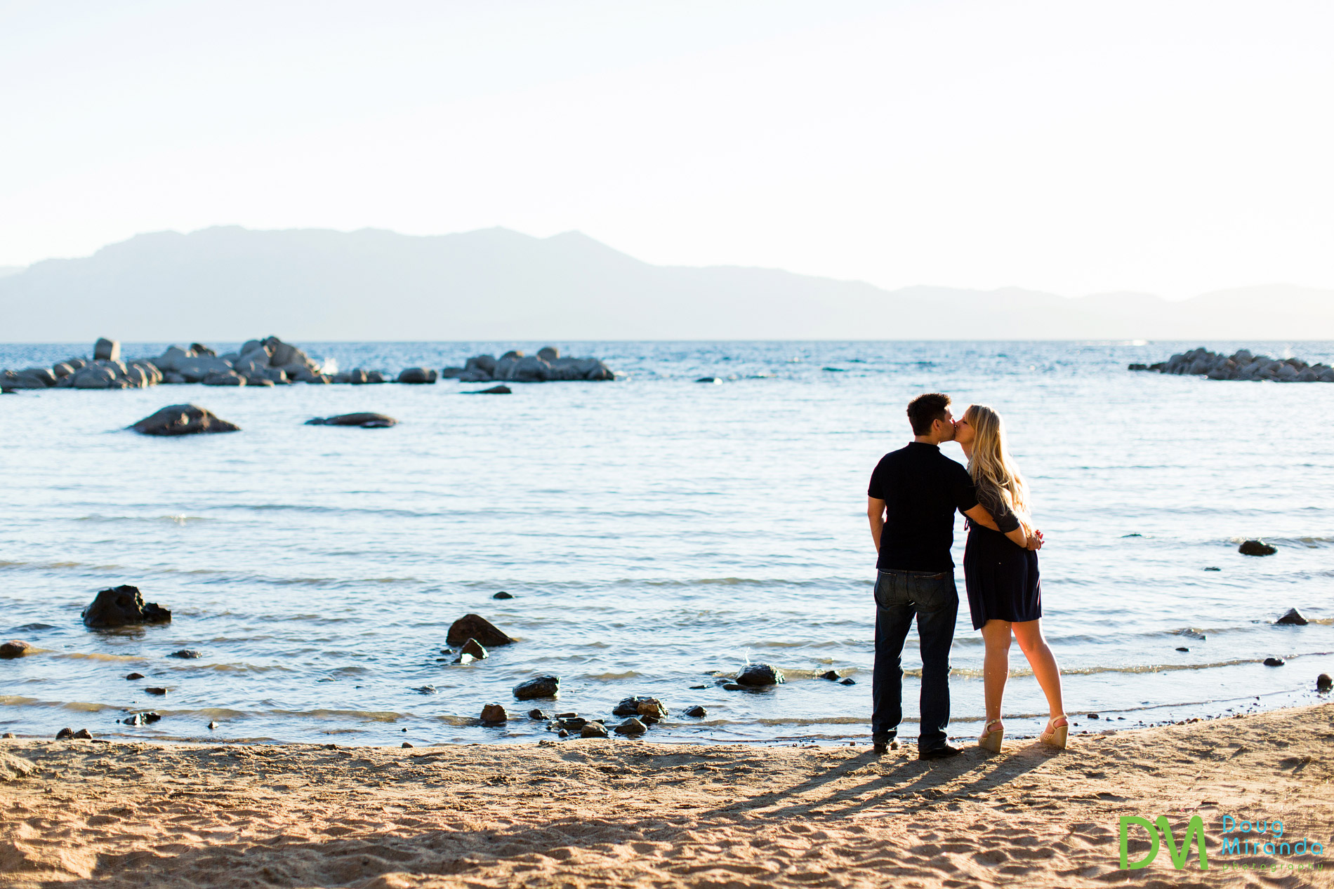 The good thing about middle of the week engagement session is that there is nobody on the beach!
