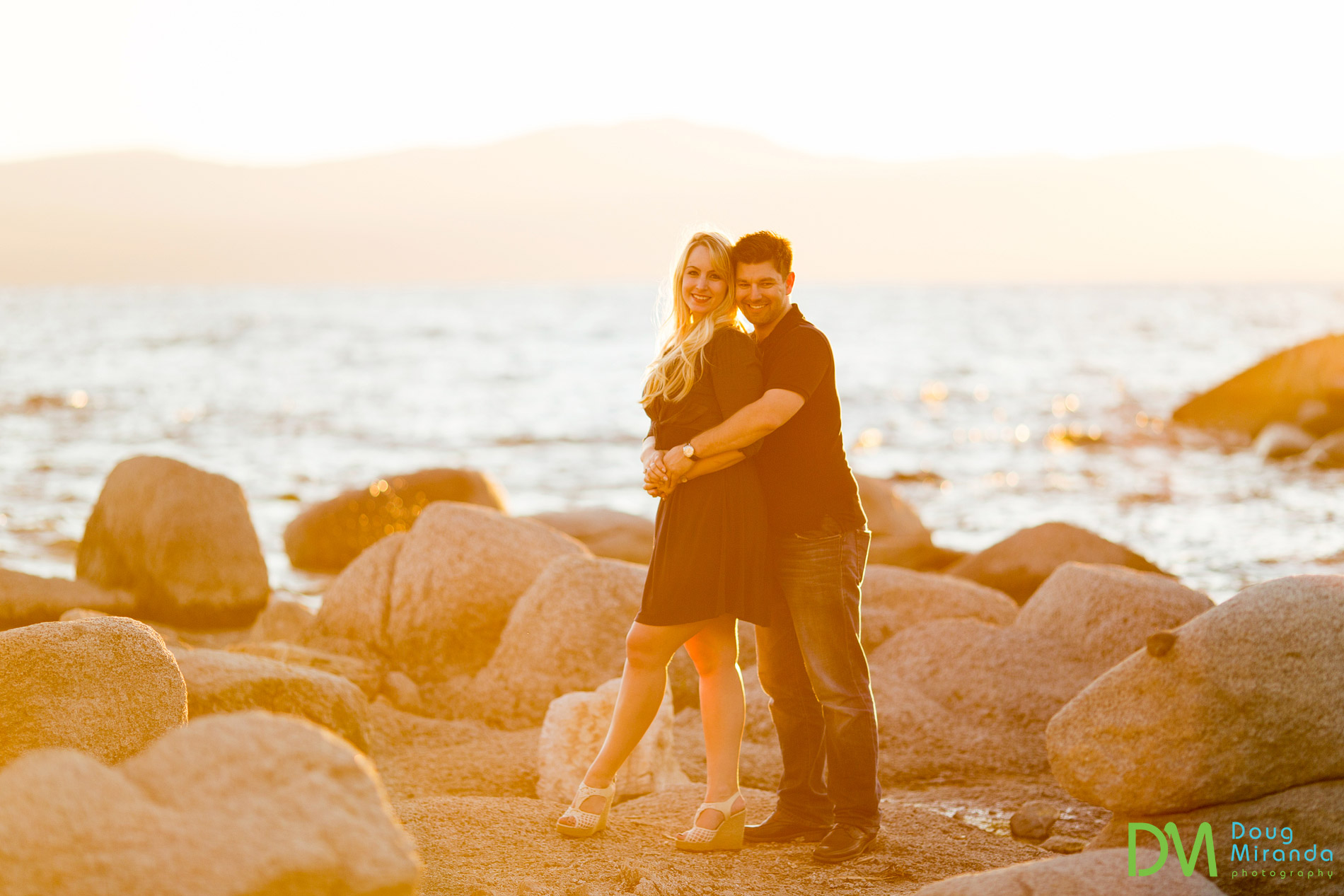 Lake Tahoe Engagement Photos.