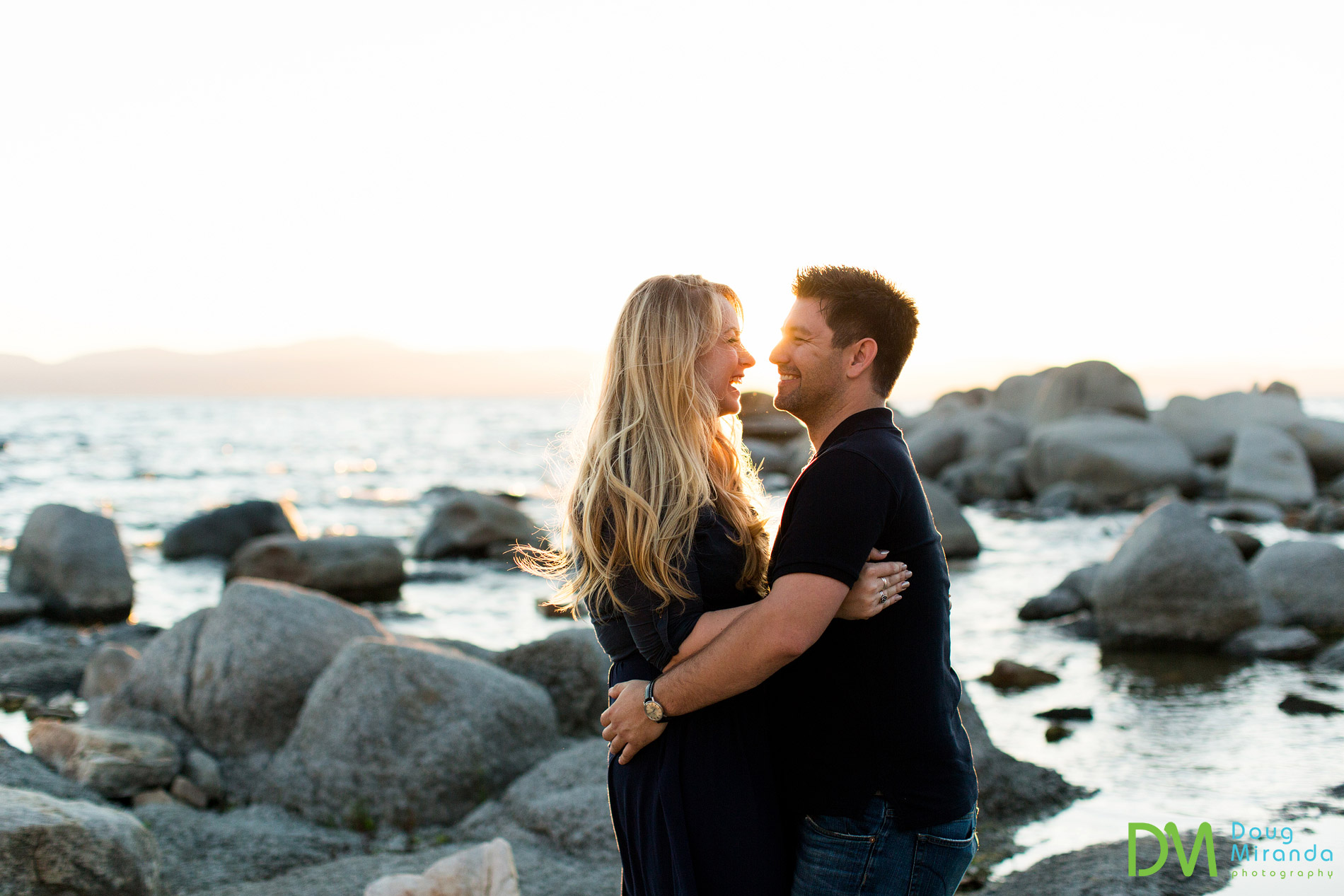 lake tahoe engagement photography sunset