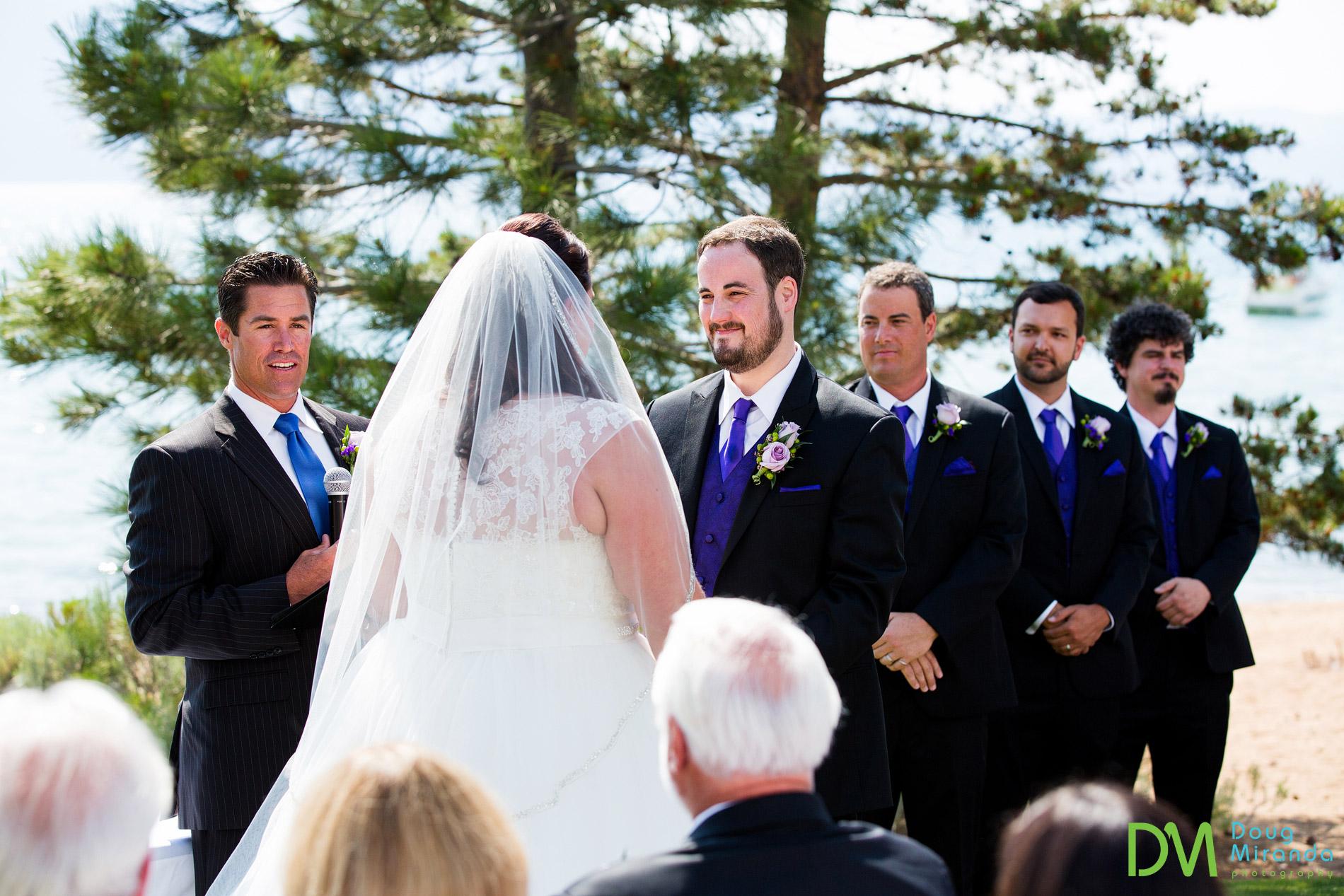 lake tahoe beach wedding