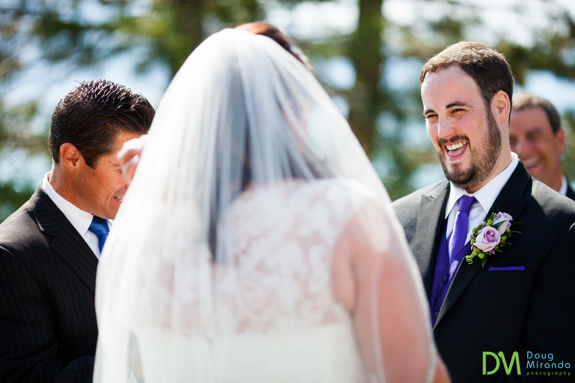 edgewood tahoe beach wedding