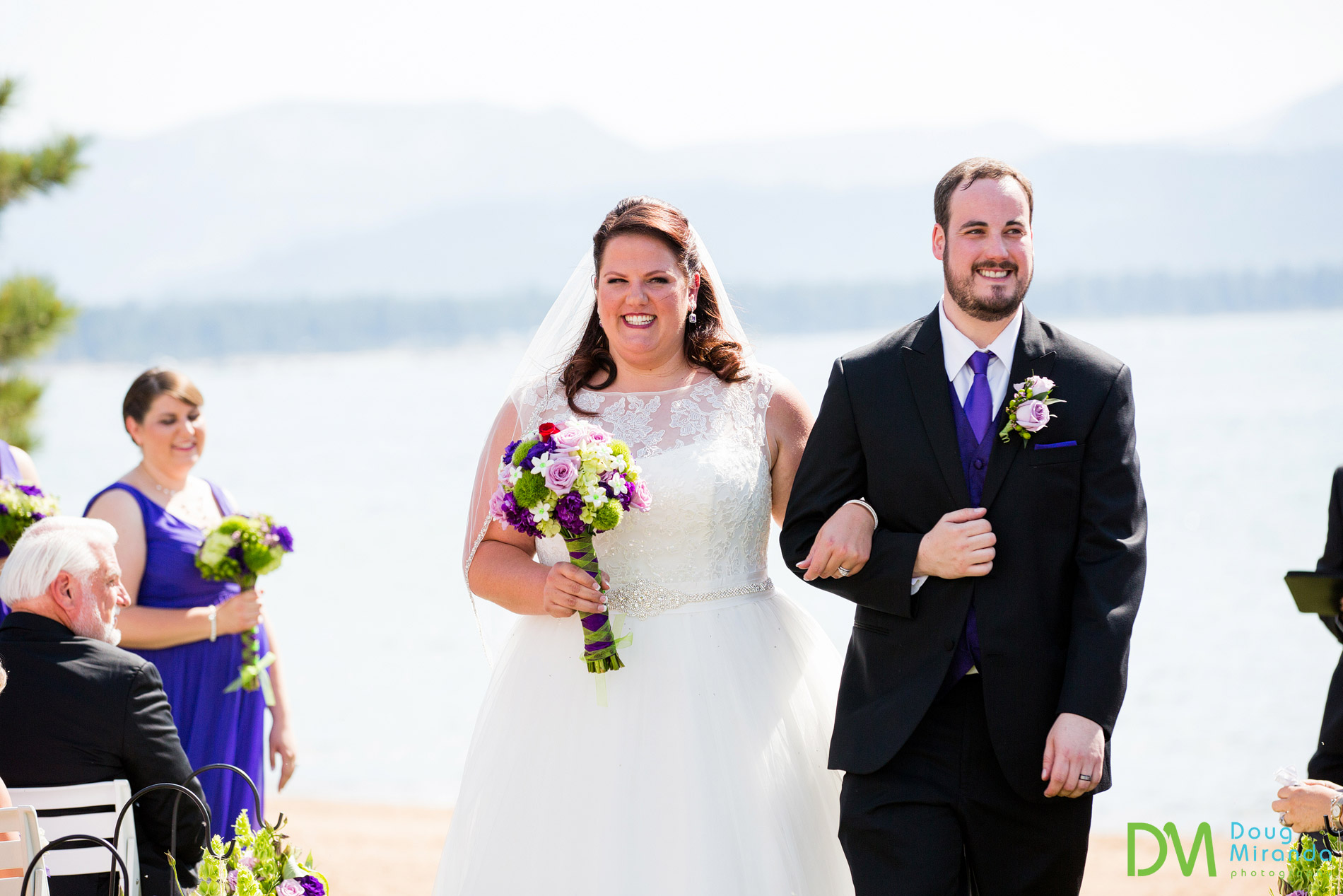 lake tahoe beach wedding ceremony