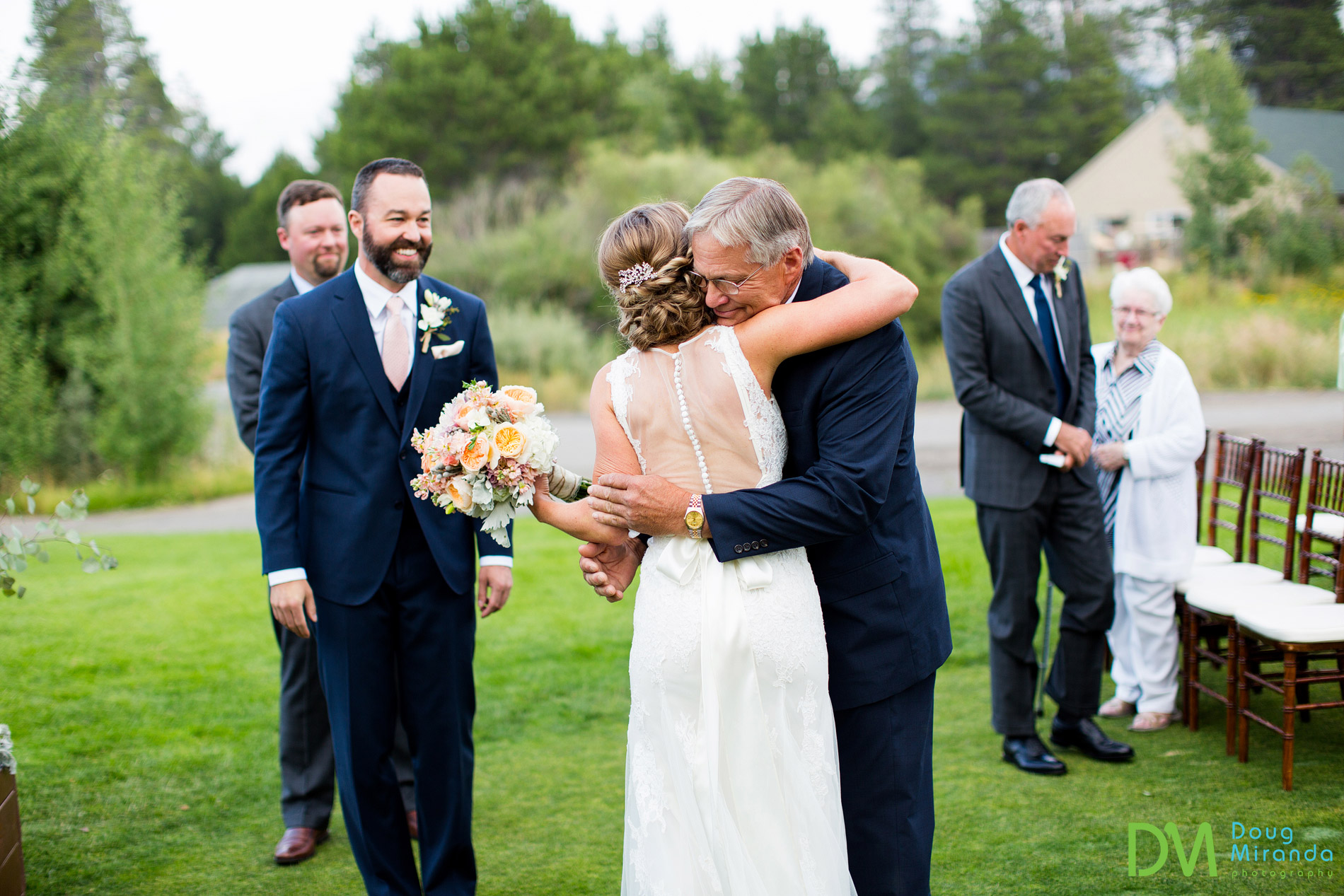 lake tahoe golf course wedding ceremony