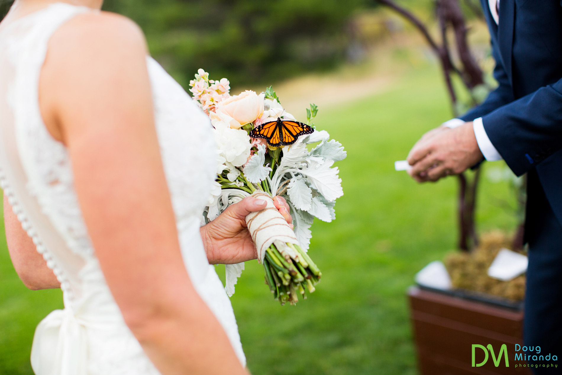 butterfly wedding ceremony release