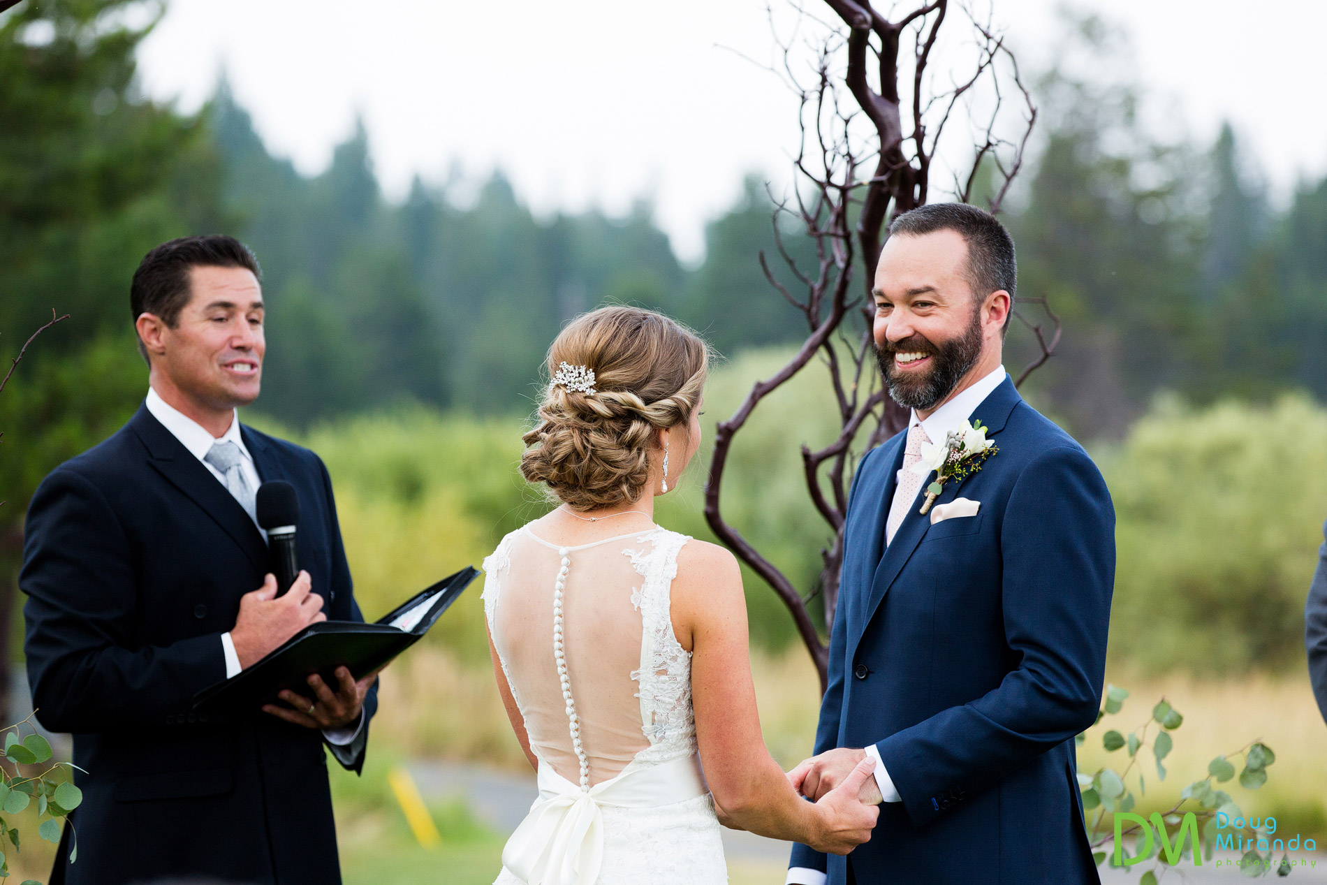 lake tahoe golf course wedding ceremony meyers ca