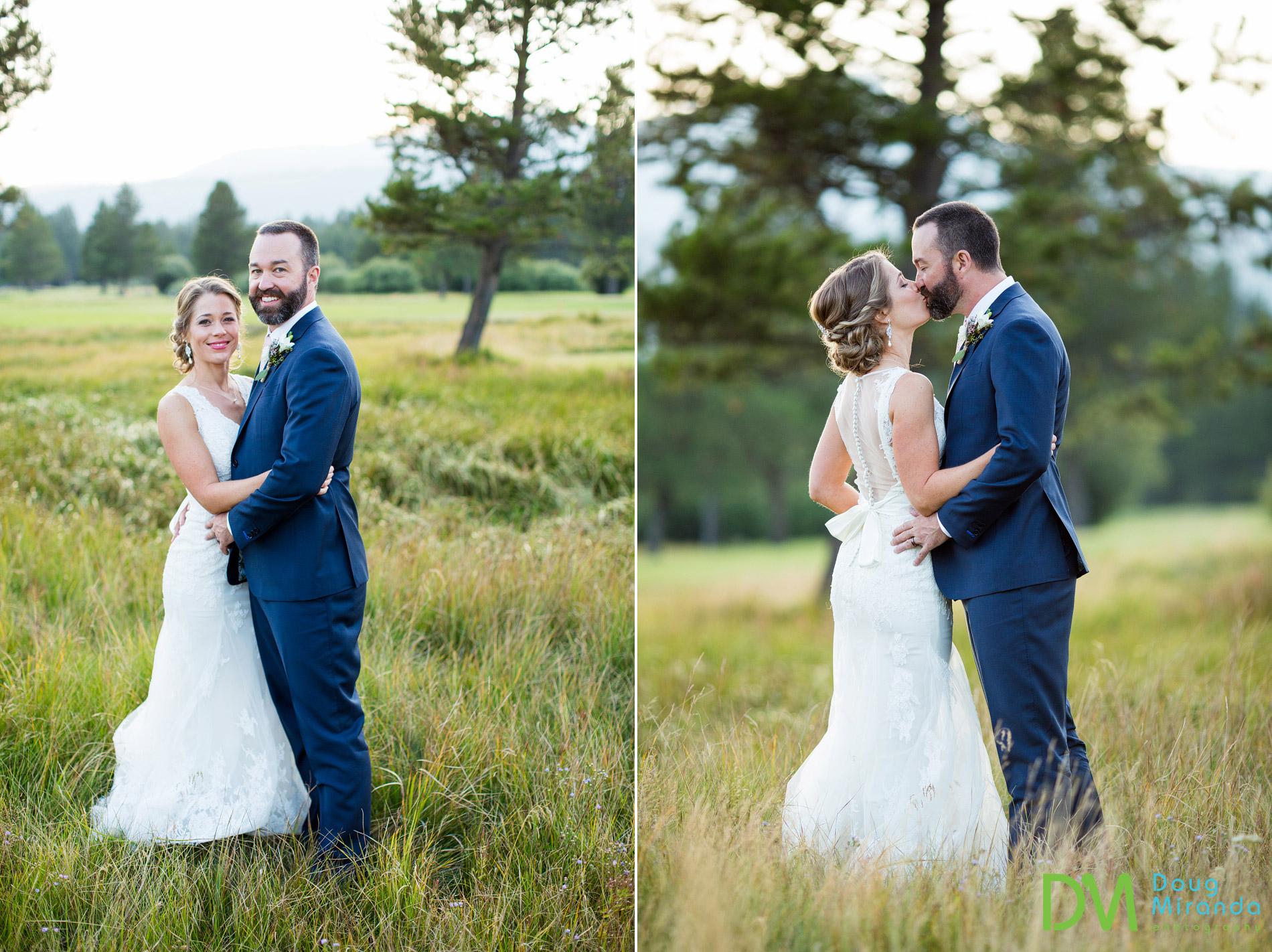 lake tahoe golf course wedding photos