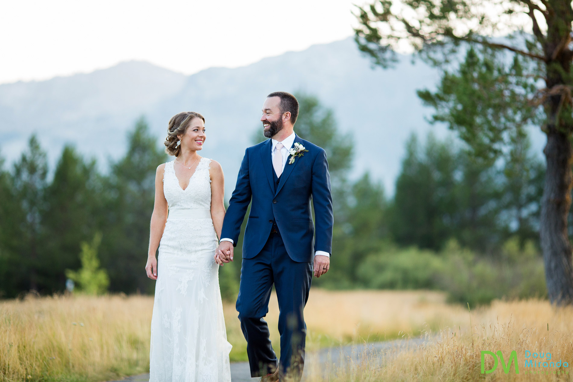 Lake Tahoe Golf Course Wedding Photos Meyers CA.