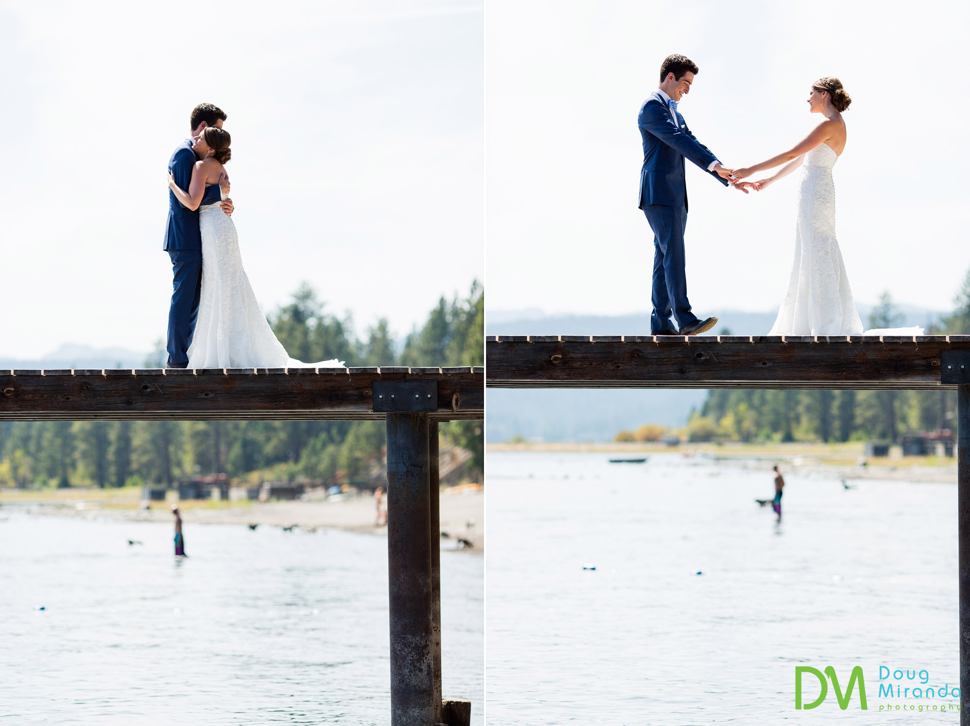 skylandia beach wedding first look