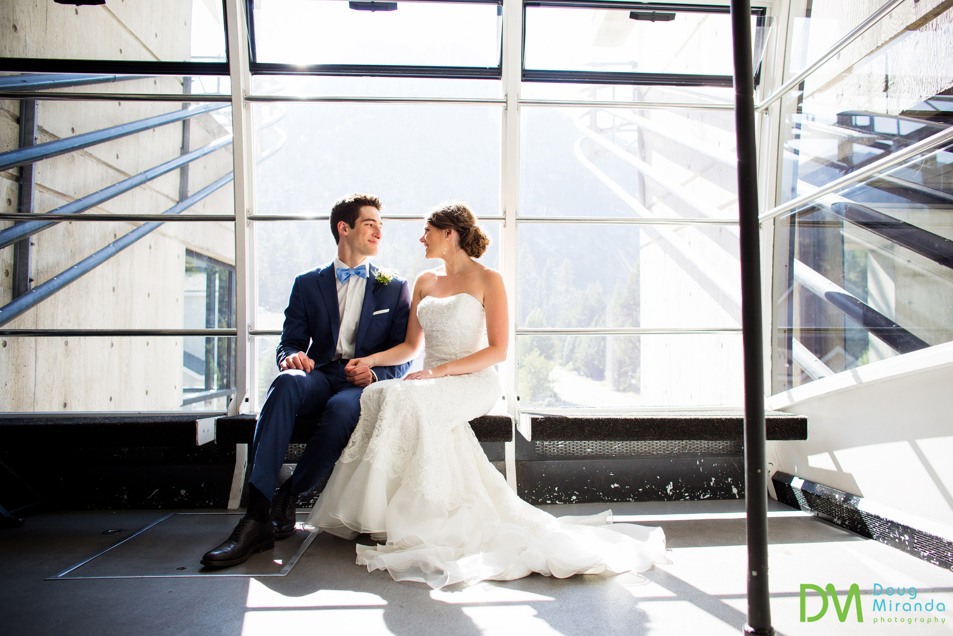 It was super fun to take the Squaw Valley tram ride up to their ceremony site.