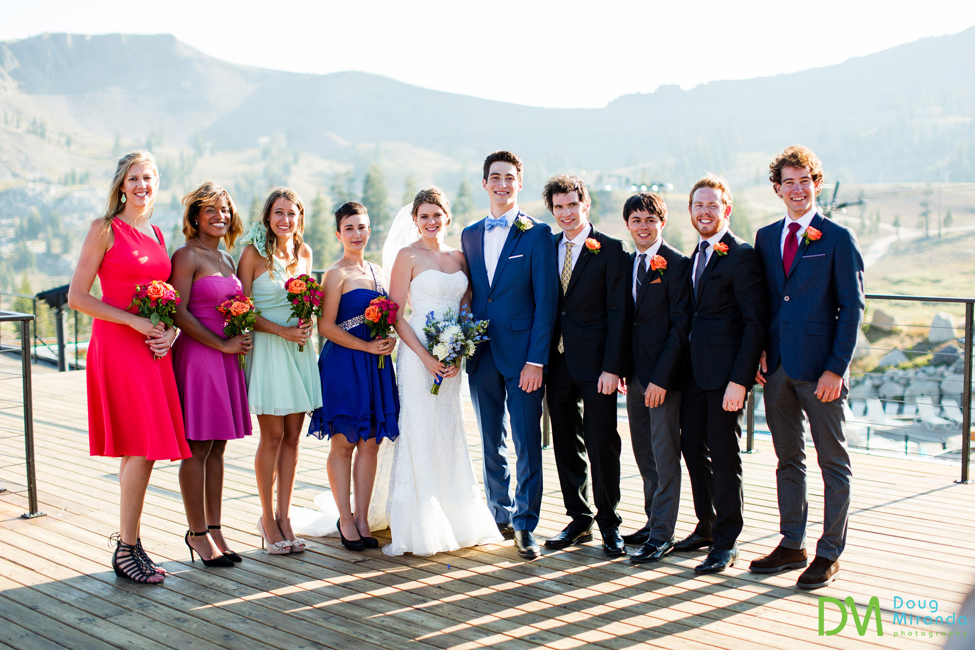 wedding photos squaw valley high camp