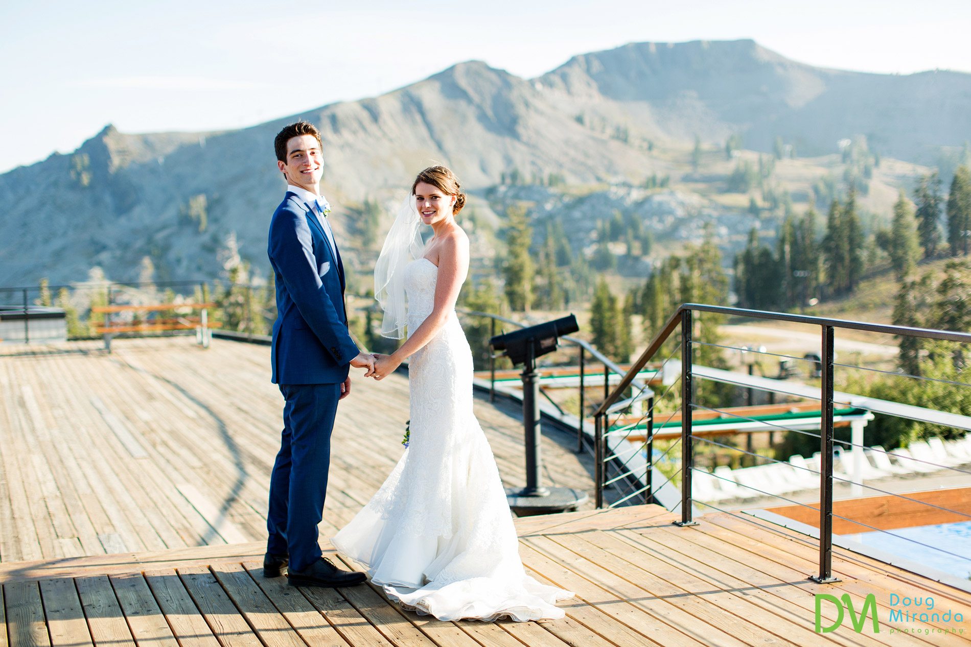 Squaw Valley High Camp Wedding.
