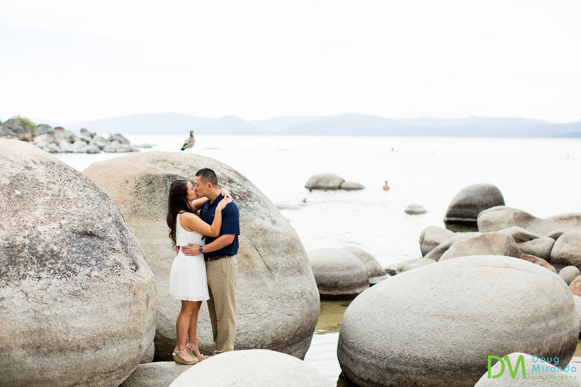 lake tahoe sand harbor engagement photos