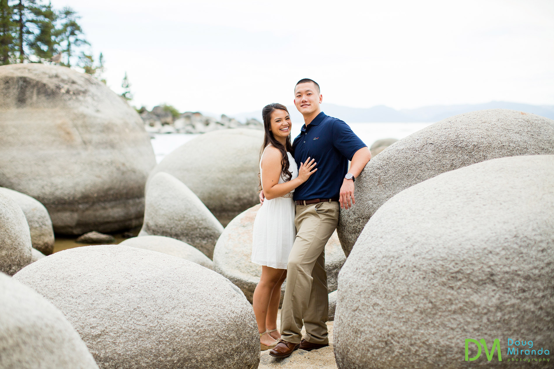 Sand Harbor Engagement.