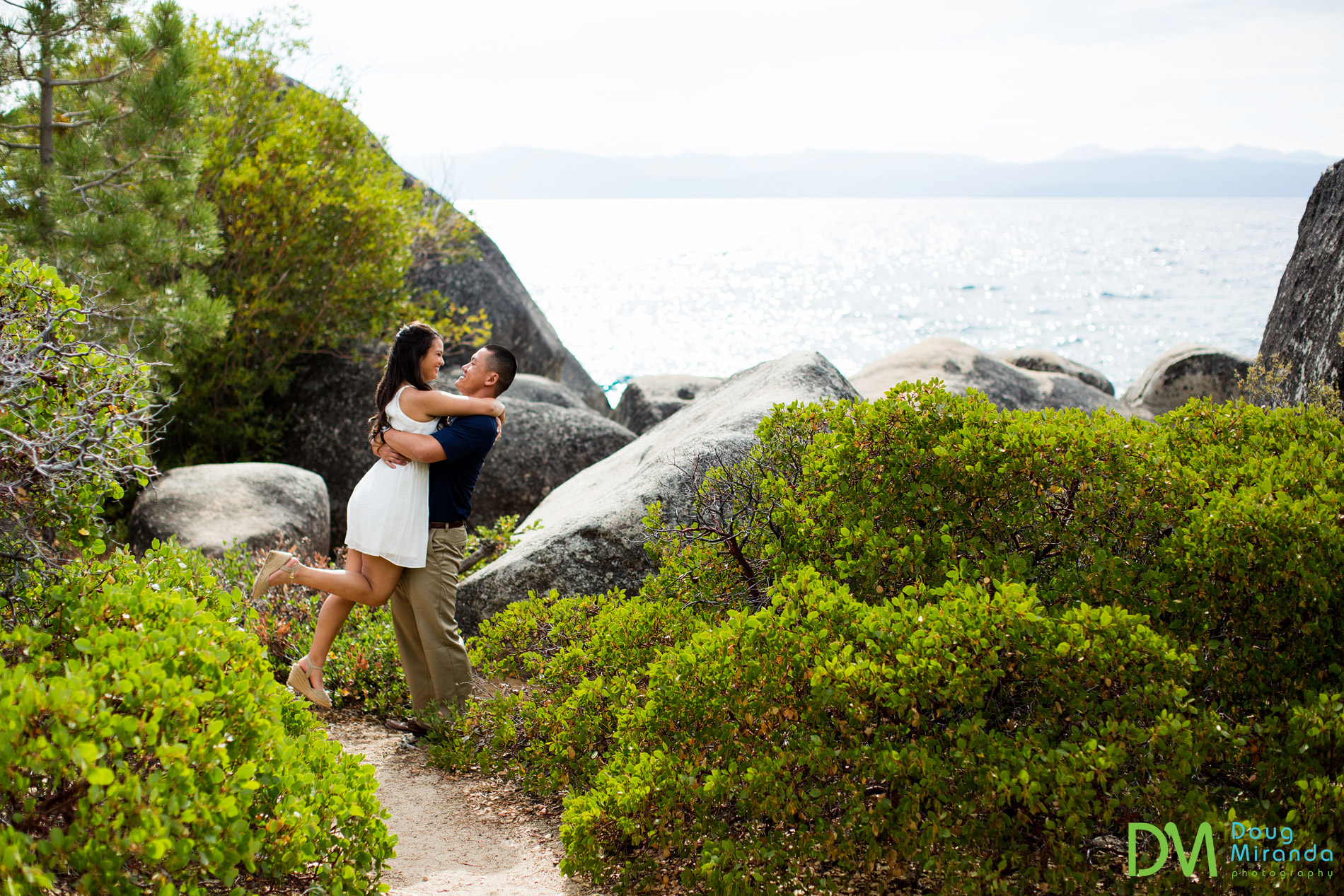 engagement session sand harbor lake tahoe