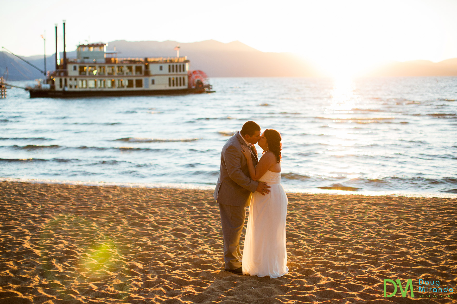 Zephyr Cove beach wedding.